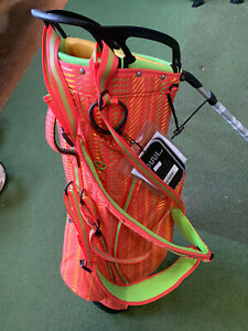 New **SALE** OUUL PYTHON SUPER LIGHT STAND BAG (RED/APPLE GREEN/YEL)
