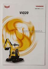 06581 New!! 2014 YANMAR ViO20 Excavator Power Shovel Japanese Catalog Flyer