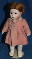 """Vintage Porcelain and Cloth Doll by Patricia Coffer """"Tansie Comes to Visit"""" 10"""""""
