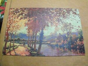 1930's-40;s BIG 10 Picture Puzzle AUTUMN ON THE SEINE COMPLETE 275 pc Jigsaw