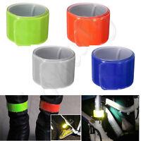 1~4X Reflective Night Safety Slap Wrap Band Ankle Leg Wrist Arm Cycling Jogging