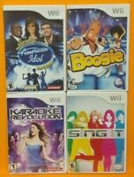 Nintendo Wii Wii U Games LOT Boogie Disney Sing IT Karaoke Revolution 1 + Idol