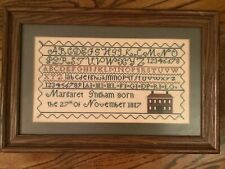 Alphabet Cross Stitch Finished Sampler Margaret Ingham 1817 House Reproduction