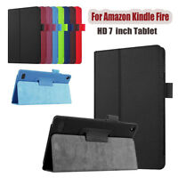 Ultra Leather Case Stand Cover For Amazon Kindle Fire HD 7 2015 Tablet