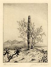 ALFRED RUDOLPH, 'COMPANIONS', ARIZONA DESERT, signed etching, c 1925.