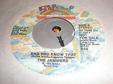 The Jammers 45 And You Know That SALSOUL PROMO