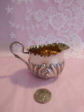 More details for antique sterling silver bachelors cream jug - sydney & co - birm 1902