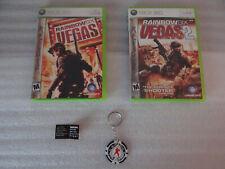 Rainbow Six Vegas/Vegas 2 (w/ NEW Limited Poker Chip Key Chain) Xbox 360