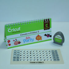 GORGEOUS CRICUT PROVO CRAFT CARTRIDGE, MANUAL BOOK, OVERLAY - CREATE A CRITTER 2