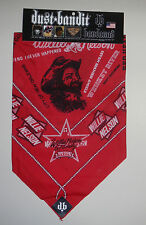 NEW Willie Nelson & Family On Tour Dust Bandit Bandana 3in1 Face Mask Adjustable