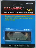 10 Piece Hook Utility Knife Blades Fabric Roofing Carpet Cutting Golf Clubs