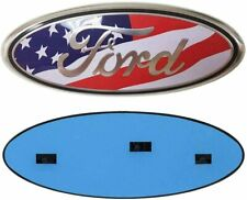 "1 X  2004-2016 Ford 9"" x 3.5"" USA FLAG OVAL EMBLEM  Front Grille & Rear Tailgate"