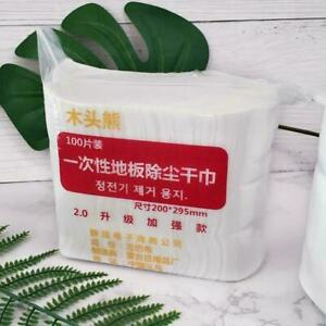 100 Electrostatic Dust Removal Mop Paper Home Cleaning Cloth D1R7