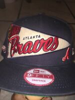 Atlanta Braves New Era 9FORTY MLB Trucker Adjustable Snapback Hat Mesh Cap