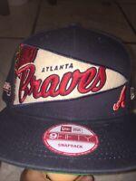 Atlanta Braves New Era 9FORTY MLB Trucker Adjustable Snapback Hat Mesh Cap