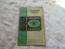 John Deere M tractor operator's manual