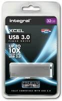 Integral 32GB XCEL Fast USB 3.0 Stick - Up to 10 Faster than USB 2.0 - 130MB/s