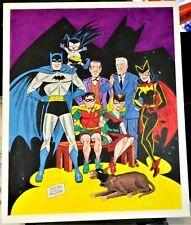 "SHELDON ""SHELLY"" MOLDOFF BATMAN FAMILY PAINTED ORIGINAL ART PIECE 1995 13.5""x17"""