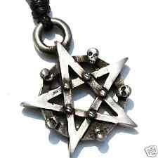 23C PEWTER Gothic PENTAGRAM Wiccan PAGAN Magic PENDANT