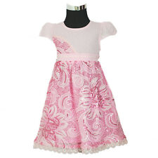 New Flower Girl Party Bridesmaid Pageant Dress in Pink,White 9 Months to 3 Years