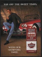 1997 SWISHER SWEETS Cigars - Chevrolet Stingray Corvette - VINTAGE ADVERTISEMENT
