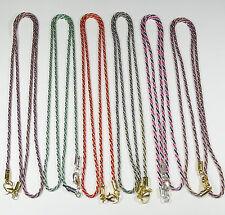 6 Cadenas Lazo Variadas 2mm A175B Bisutería Abalorios Metalic Chain chaîne