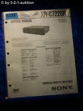 Sony Service Manual XR C7220R Car Stereo (#5332)