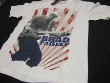 Nwt Mens S Brad Paisley Playing Guitar American Rays Country Music Band T- Shirt