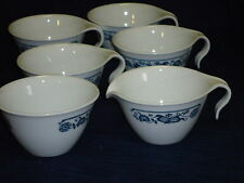 CORELLE Living Ware OLD TOWN BLUE SUGAR BOWL & CREAMER & 4 Coffee Cups