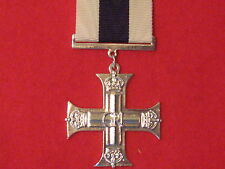 FULL SIZE MILITARY CROSS MC MEDAL GVI MUSEUM COPY MEDAL WITH RIBBON.