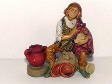 "Euromarchi Nativity Scene Shepherd Figurine Presepio Creche Manger 3-1/4"" H"
