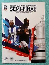 2013 - FA CUP SEMI FINAL PROGRAMME - MILLWALL v WIGAN ATHLETIC - V.G CONDITION