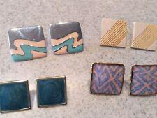 4 pair of antique retro pierced earings