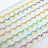 5yards Glitter Embroidered Net Lace Trim Fabric Garment Ribbon DIY Accessorie