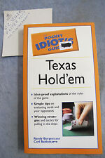 Pocket Idiot's Guide To Texas Hold 'Em - Randy Burgess OzSellerFasterPost!