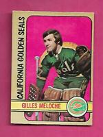 1972-73 OPC  #  112 SEALS GILLES MELOCHE GOALIE  ROOKIE GOOD CARD (INV# C7065)