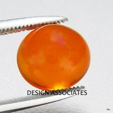 MEXICAN FIRE OPAL 4 MM ROUND CUT CABOCHON ALL NATURAL BEAUTIFUL COLOR