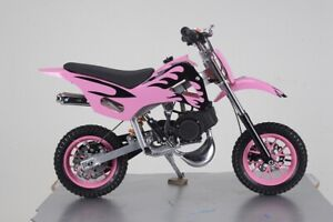 PINK 49CC MINI MOTOR DIRT BIKE KIDS POCKET ROCKET PEE WEE MOTORCYCLE ATV 50CC