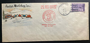 1953 North Pole NY USA First Day Cover FDC Santas Workshop Inc