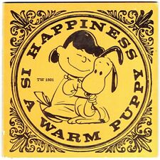 Vintage Children's Scholastic Book HAPPINESS IS A WARM PUPPY by Charles M. Schul