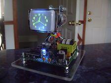 Homemade Mini Oscilloscope Clock 6Loi1 CRT Cathode ray tube Scope Nixie blue
