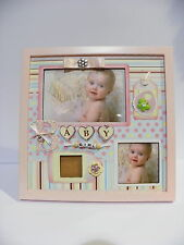 Baby picture 3 photos frame girl wood first memories nursery room decor gift