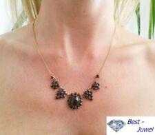 Granate Echtschmuck-Halsketten & -Anhänger im Collier-Stil für Damen