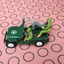 Britains Ltd Deetail Toy Soldiers. American Jeep 1976. Rarer White Wheels.