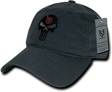 Dark Gray Punisher Skull Military Navy Seal Special Forces Polo Baseball Hat Cap