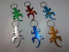 Lot of 6 pc Lizard Gecko Key Chain Bottle Opener / New