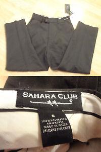 Youth Boys Sahara Club Sz 6 NWT Grey Dress Pants