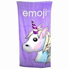 Emoji Licorne serviette bain plage 100% coton violet enfants filles