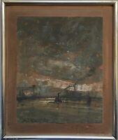 Gerhard Cohn Roemers Amsterdam Rotterdam Hafen Schiffe Niederlande 39 x 33