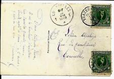 Jeux olympiques d'Anvers sur carte postale  COB nr. : 179 ( 2x )   VC  +- 40,00